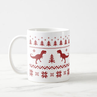 Ugly T-Rex Dinosaur Christmas Sweater Coffee Mug