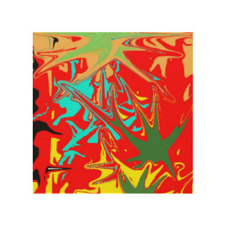 Ugly unusual colorful blot wood canvas
