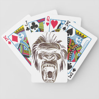 ugly vintage monkey bicycle playing cards