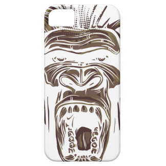 ugly vintage monkey iPhone 5 cases