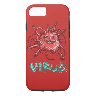 ugly virus funny cartoon iPhone 8/7 case