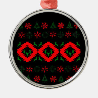 Ugly xmas 1 Silver-Colored round ornament