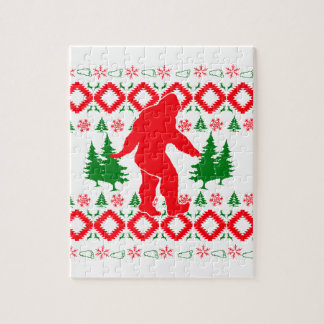 Ugly Xmas Bigfoot Jigsaw Puzzle
