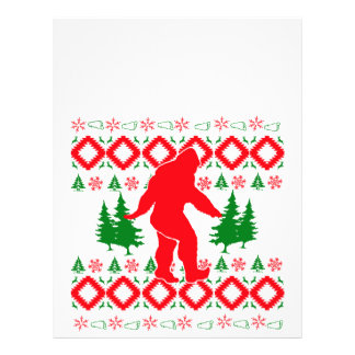 Ugly Xmas Bigfoot Letterhead