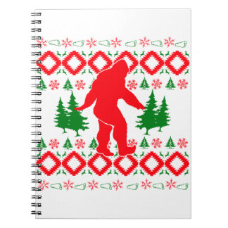 Ugly Xmas Bigfoot Notebook
