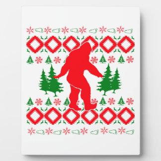 Ugly Xmas Bigfoot Plaque