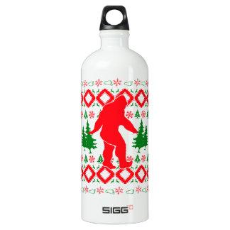 Ugly Xmas Bigfoot Water Bottle