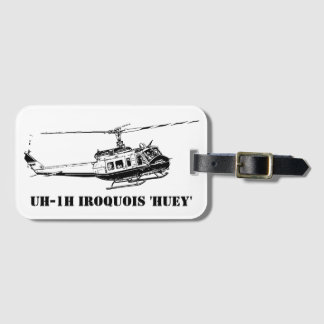 UH-1H Iroquois Helicopter Luggage Tag