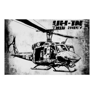 UH-1N Twin Huey Poster