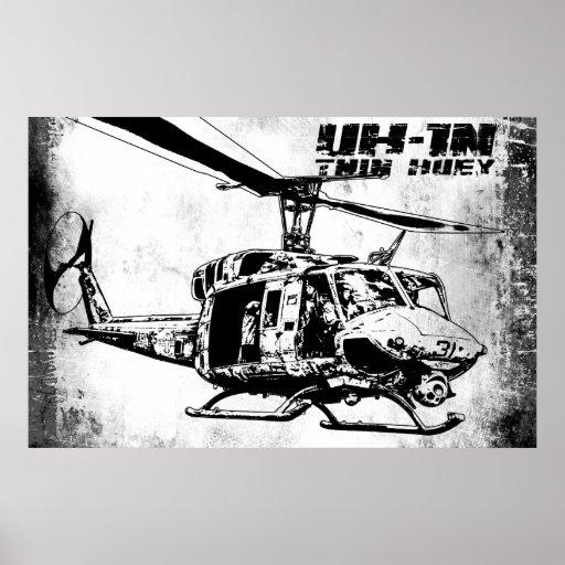 UH-1N Twin Huey Posters