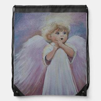 UH OH ANGEL DRAW STRING BAG
