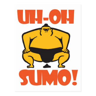 UH-OH SUMO! POSTCARD