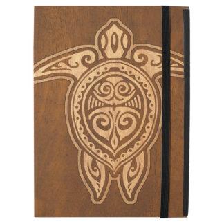 """Uhane Honu Faux Wood Hawaiian Turtle iPad Pro 12.9"""" Case"""