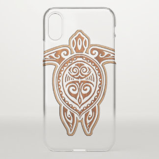 Uhane Honu Faux Wood Hawaiian Turtles iPhone X Case