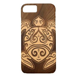 Uhane u'i Honu Faux Wood Hawaiian Turtle Case-Mate iPhone Case