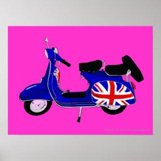 UJ Blue Scooter Pop Art Print