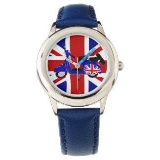 UJ Blue Scooter Pop Art Watch