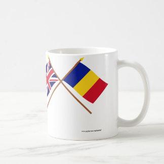 UK and Chad Crossed Flags Coffee Mug