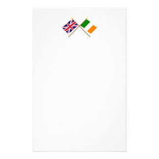 UK and Ireland Crossed Flags Stationery Paper