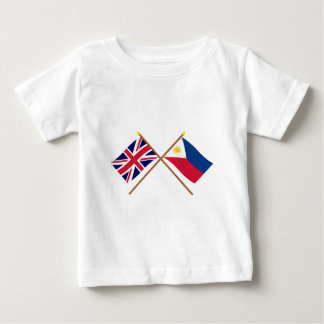 UK and Philippines Crossed Flags Tshirt