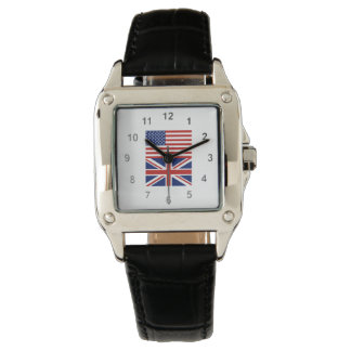 UK and US Flags Wrist Watches