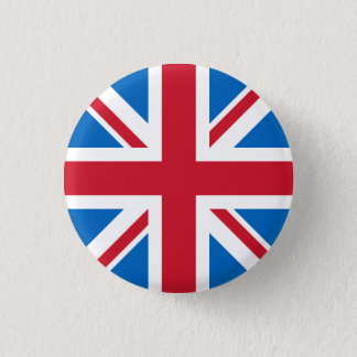 UK Badge - Union Jack with Scottish Blue 1 Inch Round Button