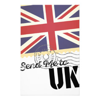 UK Britain Flag Life Send Me To Country Stationery Paper