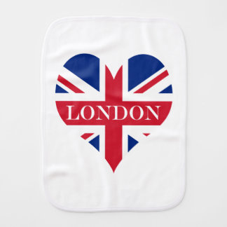 UK Britain Royal Union Jack Flag Burp Cloth