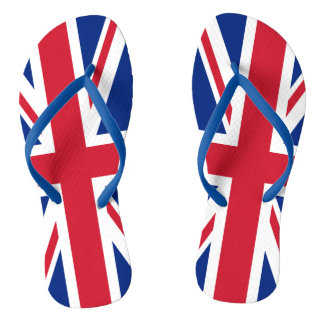 UK Britain Royal Union Jack Flag Flip Flops