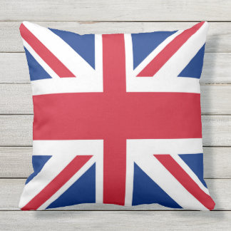 UK Britain Royal Union Jack Flag Outdoor Pillow