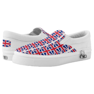 UK Britain Royal Union Jack Flag Slip-On Sneakers