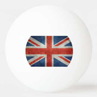 UK British Union Jack flag retro ping pong ball