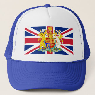 UK Coat of Arms & Flag Trucker Hat