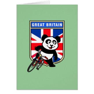 UK Cycling Panda Card