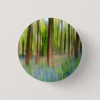 UK England | Bluebell Oak Woodland in Springtime 1 Inch Round Button