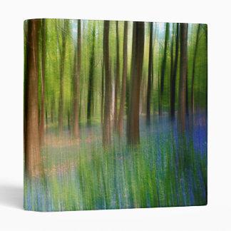 UK England   Bluebell Oak Woodland in Springtime 3 Ring Binder