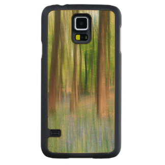 UK England | Bluebell Oak Woodland in Springtime Carved Maple Galaxy S5 Case