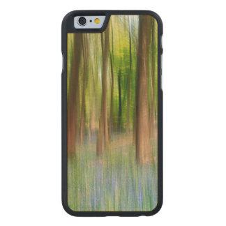 UK England   Bluebell Oak Woodland in Springtime Carved Maple iPhone 6 Case