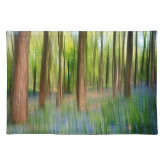 UK England | Bluebell Oak Woodland in Springtime Placemat