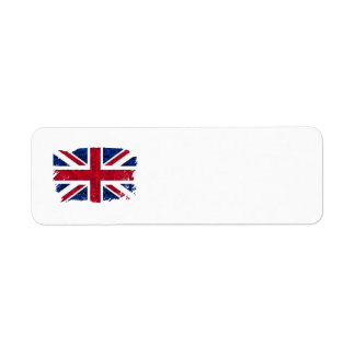 UK FLAG Address Labels