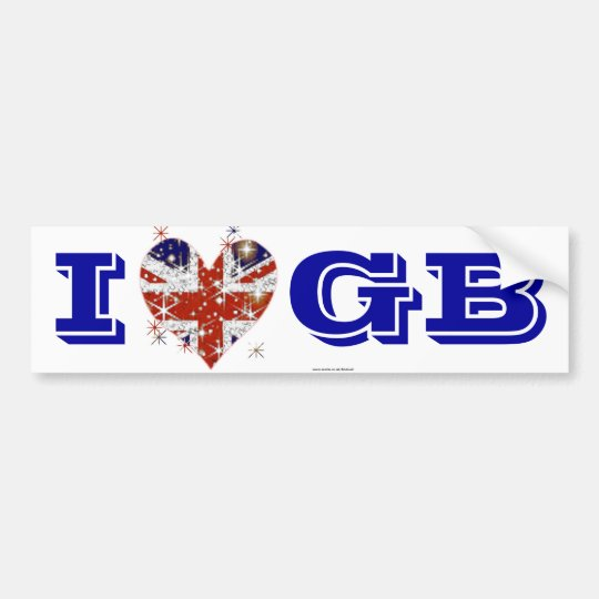 UK Flag British patriot Bumper Sticker