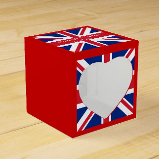 UK Flag British Union Jack Favor Box