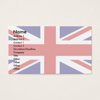 Uk Flag Business Card