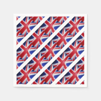 UK FLAG DISPOSABLE NAPKINS