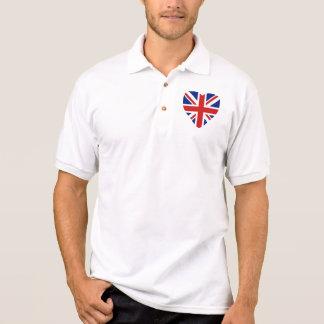 UK Flag Heart and Map Polo Shirt