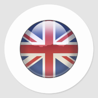 UK Flag Jewel Classic Round Sticker