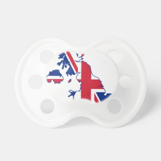 UK Flag Map Baby Pacifier