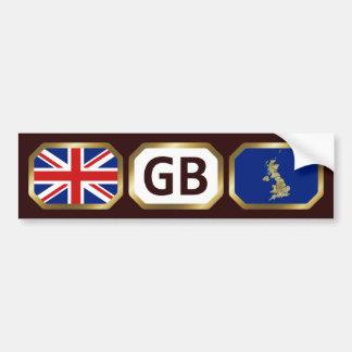 UK Flag Map Code Bumper Sticker