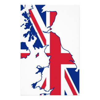 UK Flag Map Stationery