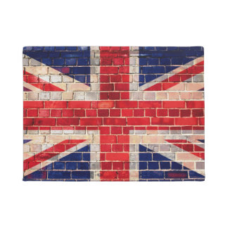 UK flag on a brick wall Doormat